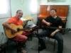 Daniel e o Professor Berreldi (baixo)