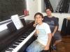 Pianista entusiasmado.